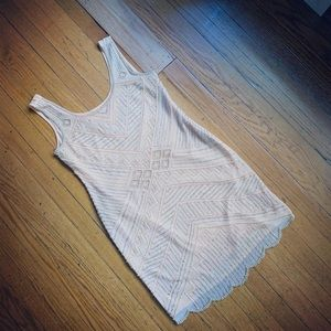 Beautiful Blush Beaded Flapper Dress